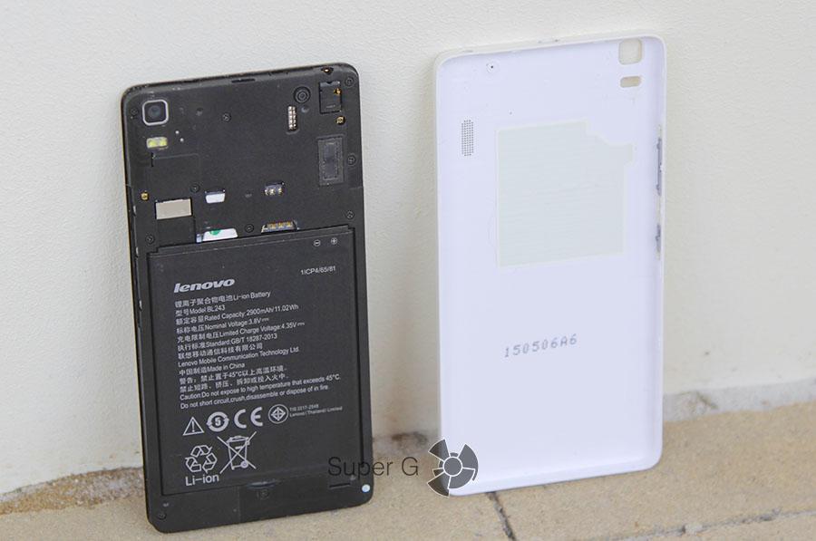 Разъемы для SIM-карт в Lenovo A7000