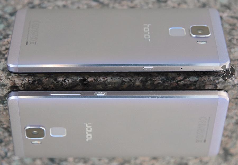 Боковые стороны смартфона Honor 7