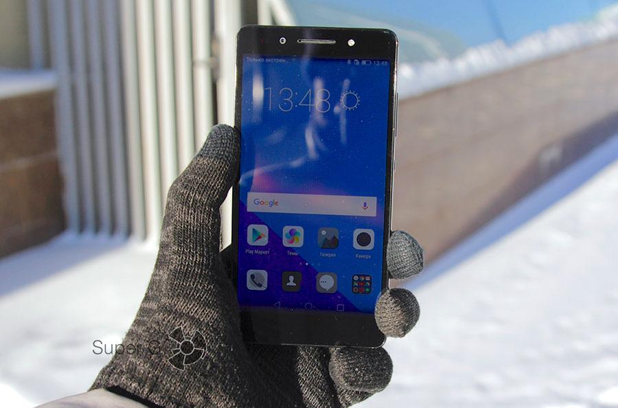Поведение экрана Honor 7 PLK-L01 на солнце