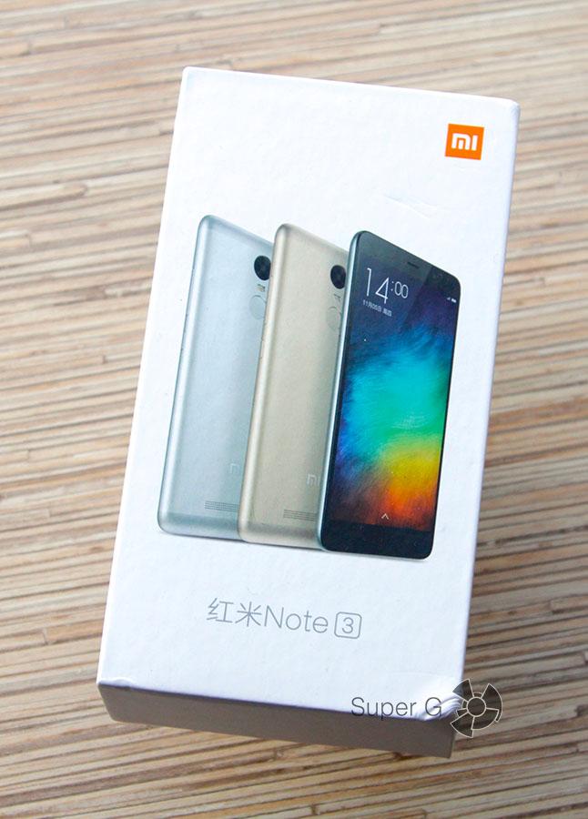 Коробка из-под Xiaomi Redmi Note 3