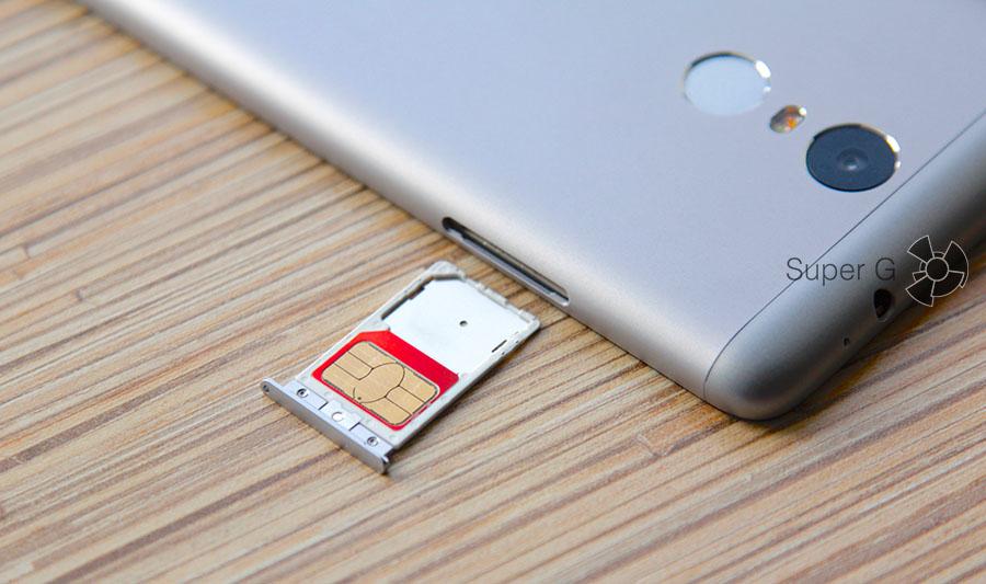 Слот для SIM-карт Xiaomi Redmi Note 3