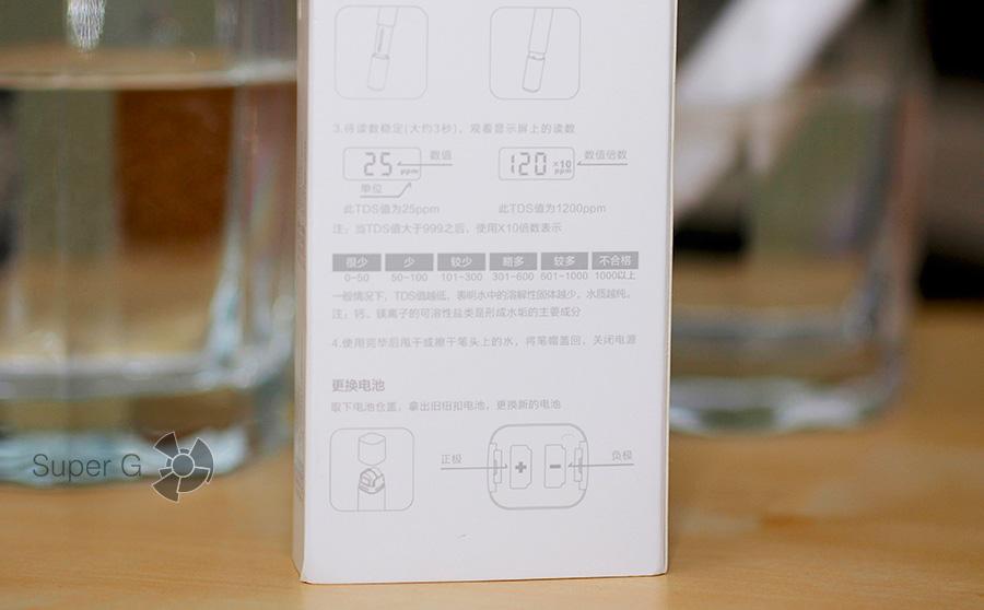 Упаковка из-под Xiaomi TDS