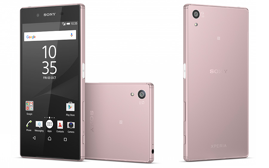 Sony Xperia Z5 розового цвета