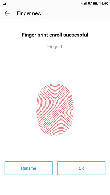 Ввод отпечатка пальцев через сканер в LeTV Le 1s