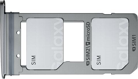 Конструкция слота для SIM-карт в Samsung Galaxy S7 копия