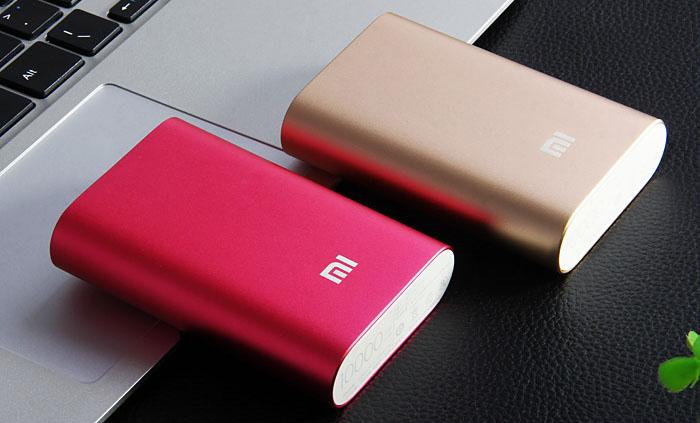 Розовый портативный аккумулятор Xiaomi