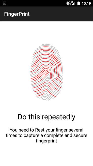 Сканер отпечатков пальцев (система) на Bluboo Xtouch