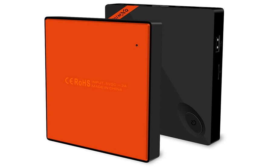 Черно-оранжевый ТВ-бокс Mini MXQ