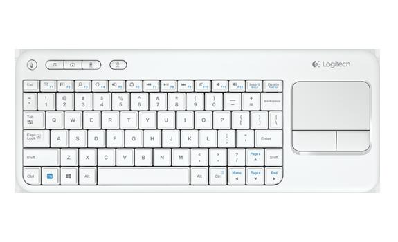 Logitech K400r white белая