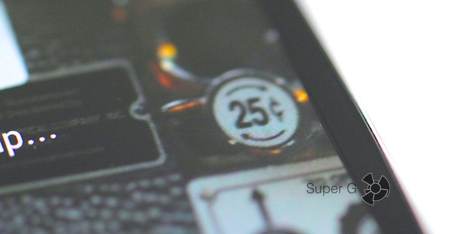 Боковые рамки смартфона достаточно тонкие