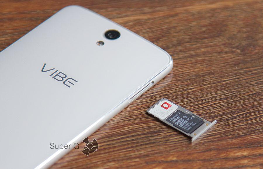 Слот для SIM-карт в Lenovo Vibe S1