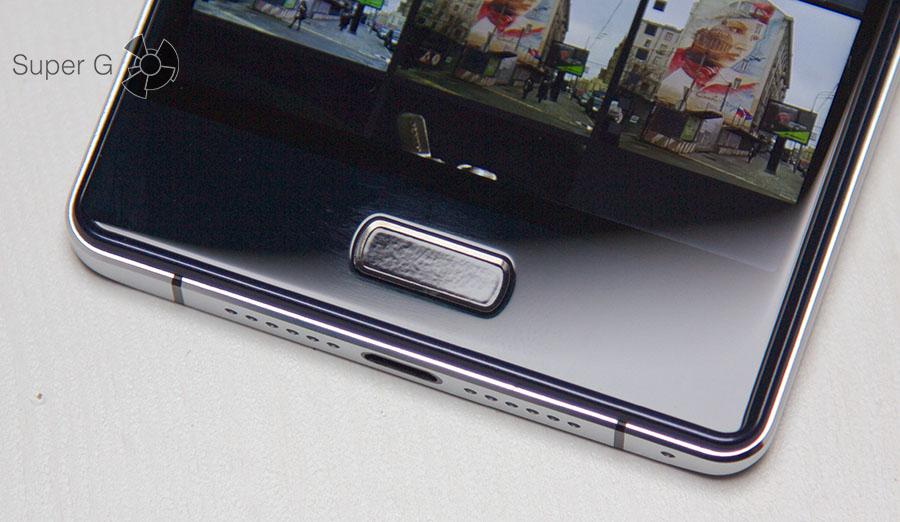 Неровная поверхность сканера отпечатков пальцев Bluboo Xtouch