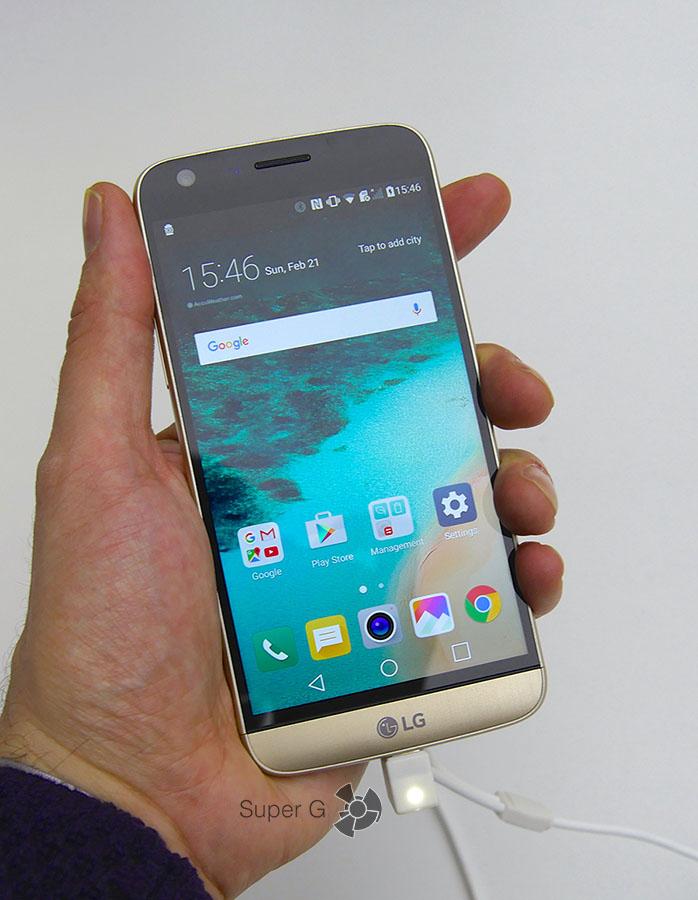Дизайн LG G5 с презентации