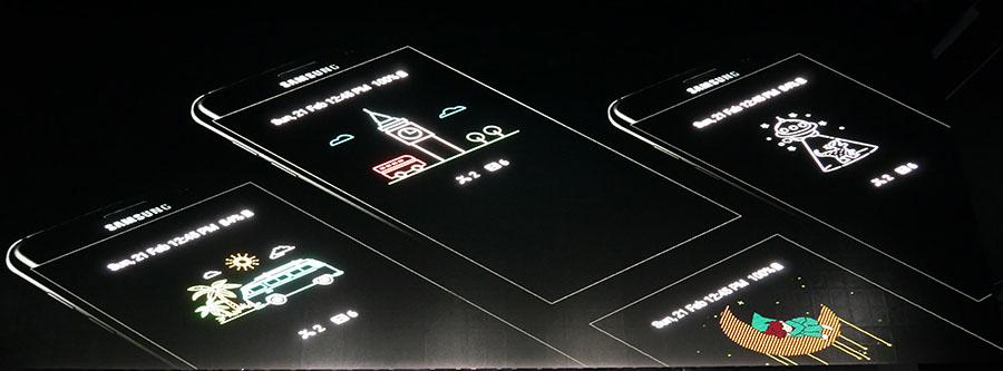 Экран Samsung Galaxy S7 всегда включен