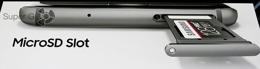 Поддержка карт памяти в Samsung Galaxy S7