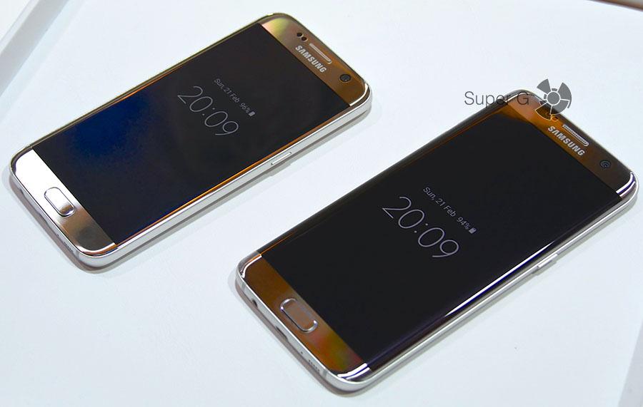 Сравнение Samsung Galaxy S7 и Samsung Galaxy S7 Edge