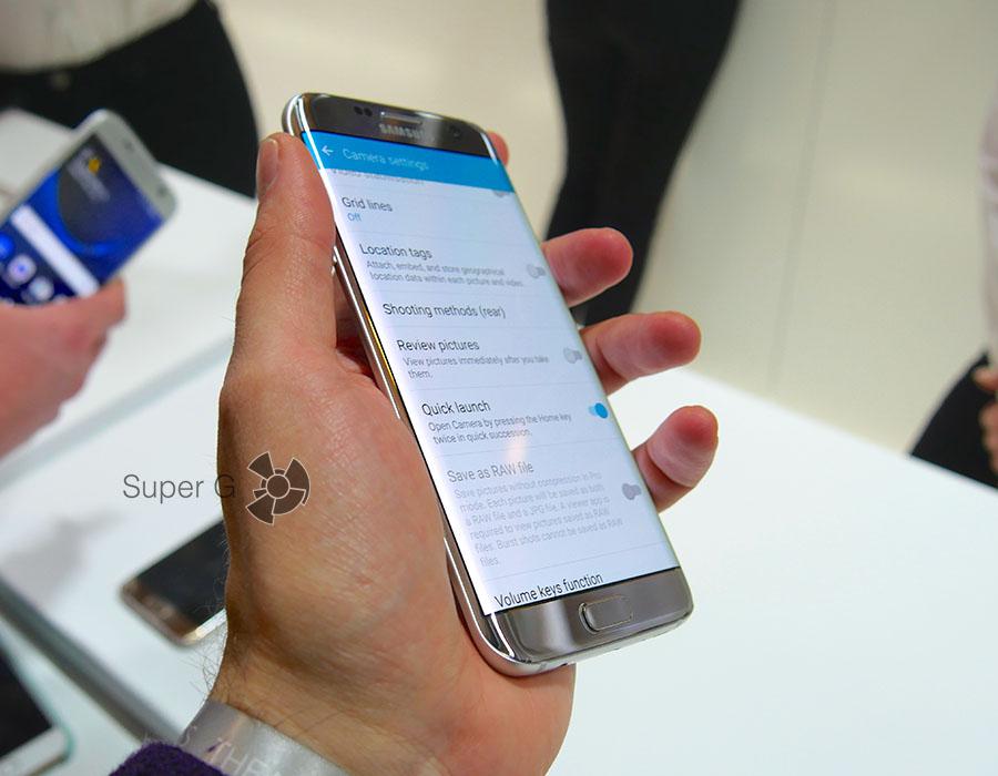 Samsung Galaxy S7 с изогнутым дисплеем