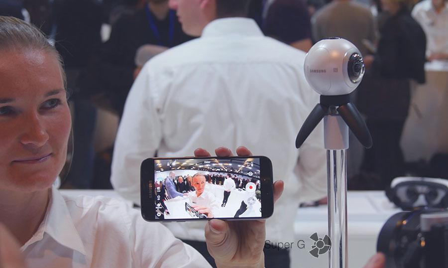 Передача картинки через 360 камеру от Samsung