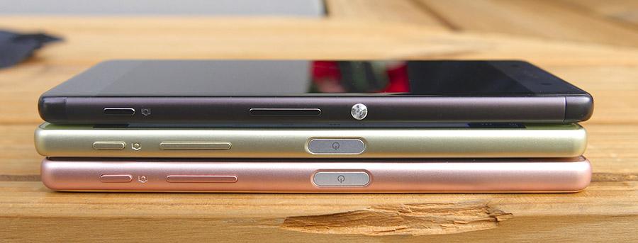 Sony Xperia X и Sony Xperia X Performance оснащены сканерами отпечатков пальцев, Sony Xperia XA - нет