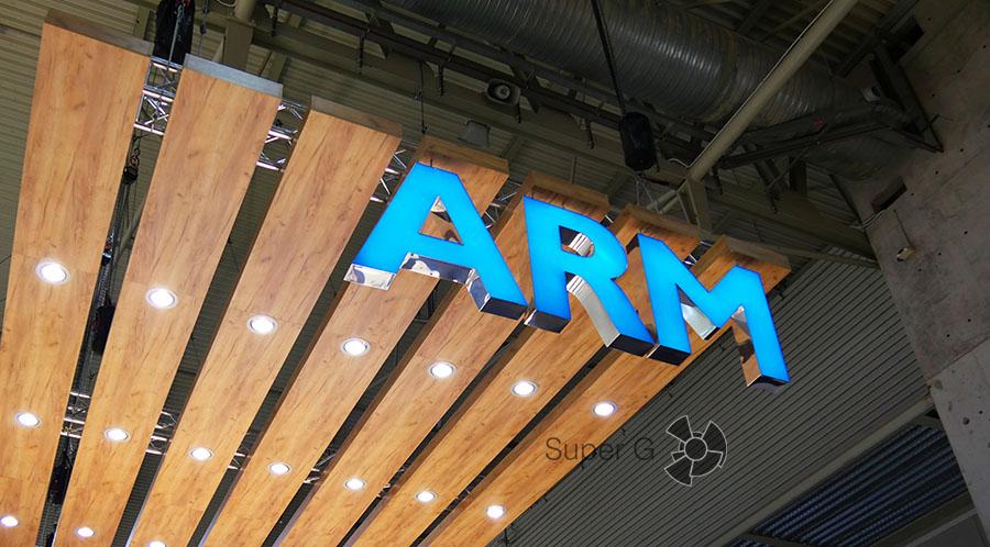 Стенд компании ARM на MWC 2016 в Барселоне