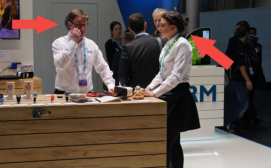 Arrogant staff ARM in Barcelona at MWC 2016