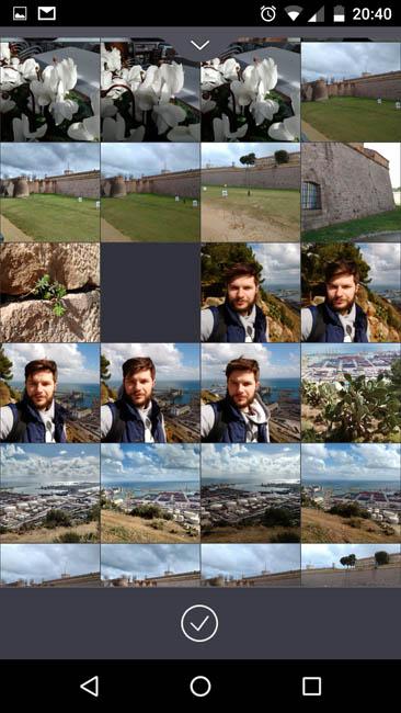 Выбор уже отснятого фото из Галереи для отправки на рамку EasyFrame