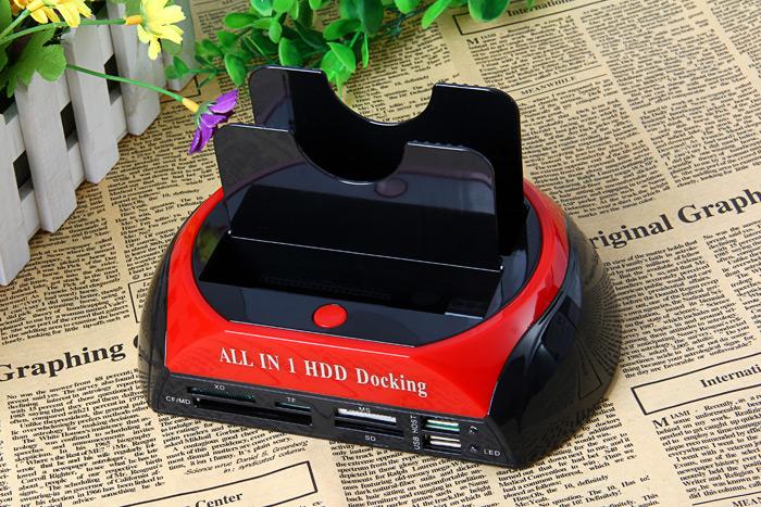 Док-станция все в одном для жестких дисков HDD и карт памяти