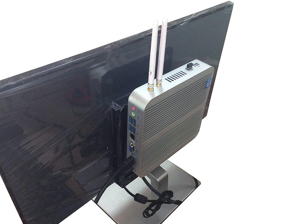Крепление компьютера к задней стенке монитора или телевизора HYSTOU FMP03 Fanless
