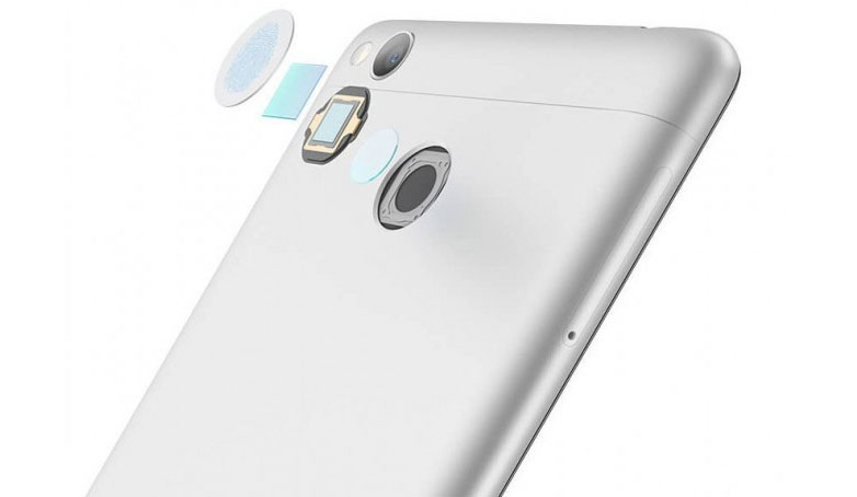 Сканер отпечатков пальцев в смартфоне Xiaomi Redmi 3 Pro