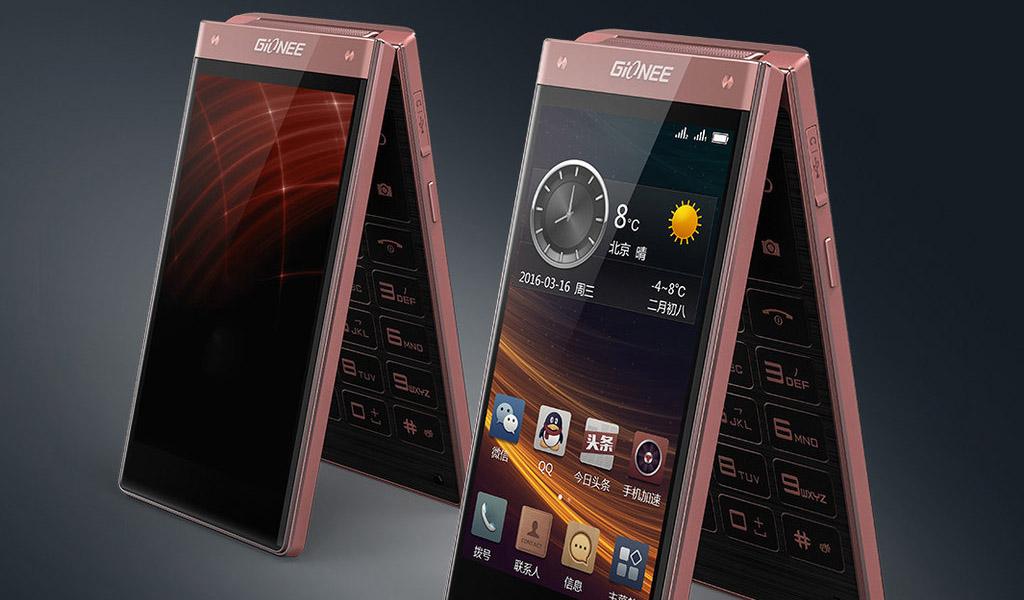 Смартфон Gionee W909 в форм-фактора раскладушка на Android и процессоре Mediatek Helio P10