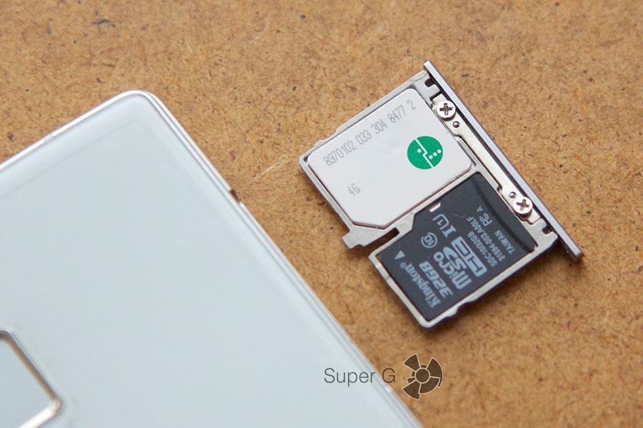 Конструкция слота под SIM-карты в Cubot S600 предусматривает установки и карты памяти
