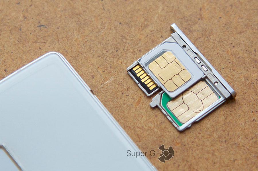 Конструкция слота под SIM-карты в Cubot S600 предусматривает установки и двух SIM-карт одновременно