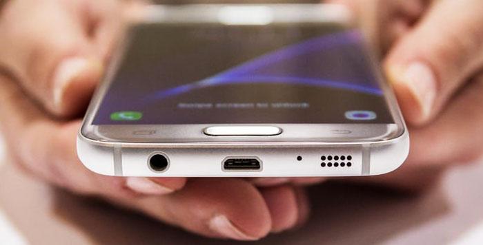 Micro USB в Samsung Galaxy S7 слот для SIM-карт и карты памяти