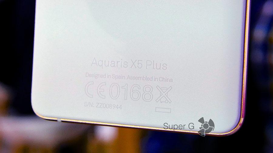 BQ Aquaris X5 Plus разработан в Испании, собран в Китае