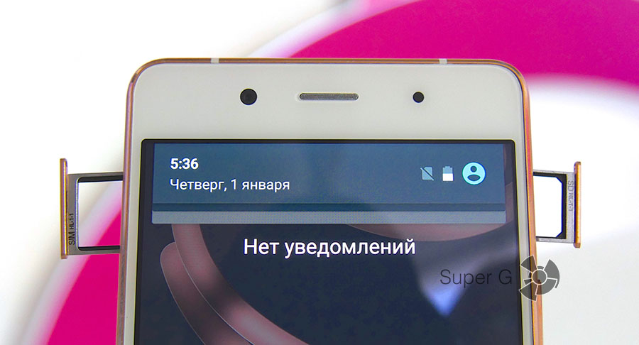 Слот для SIM-карт в BQ Aquaris X5 Plus