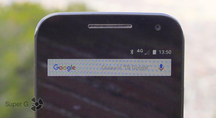Разговорный динамик, фронтальная камера Moto G