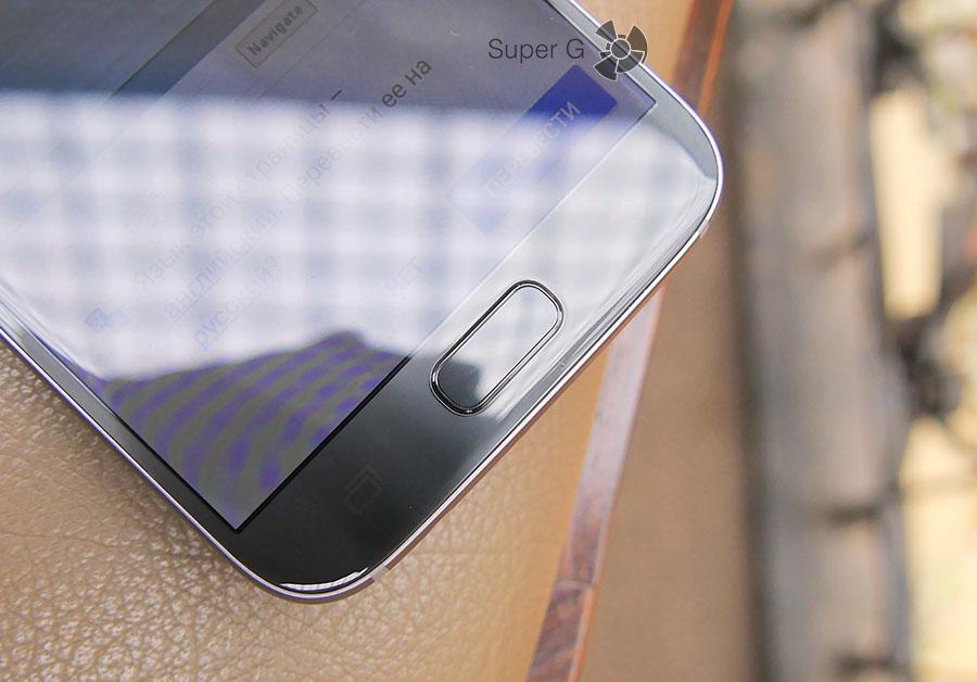 Сканер отпечатков пальцев встроен прямо в кнопку домой Samsung Galaxy S7