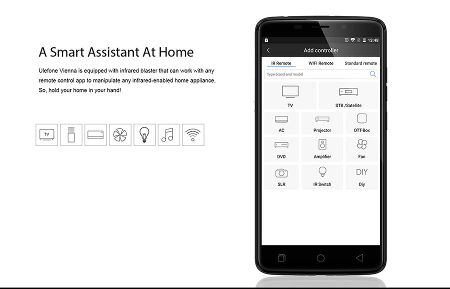 Ulefone Vienna ИК-порт и приложение для управления бытовой техникой