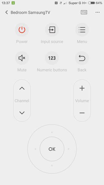 Настройка пульта управления дла бытовой техникой на Xiaomi Mi5