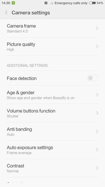 Настройки камеры Xiaomi Mi5 (2)