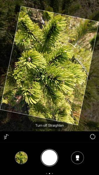 Режим фотографирования Straighten на Xiaomi Mi5