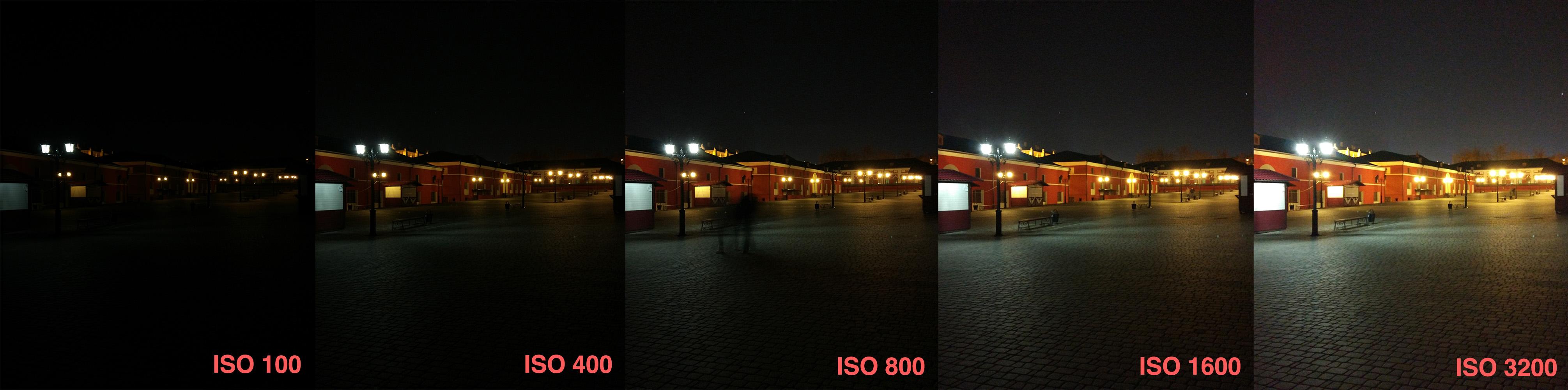 Тест шумности матрицы (ISO) Xiaomi Mi5