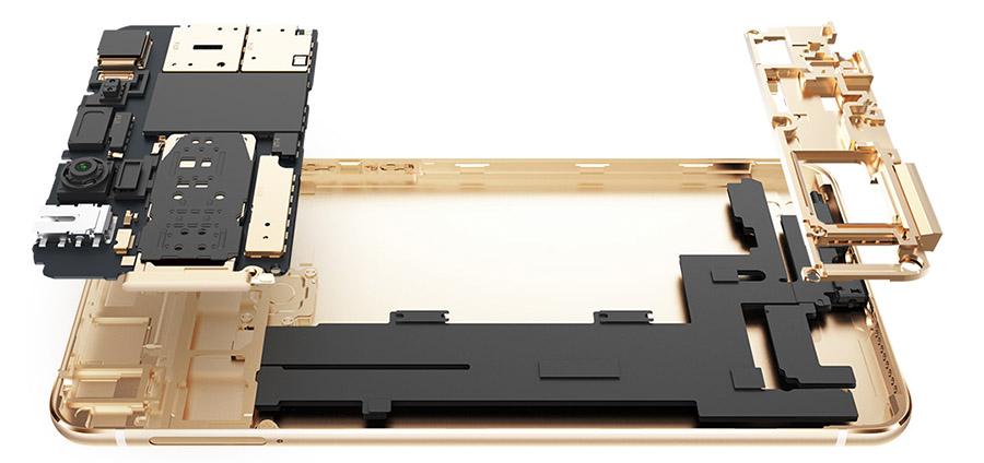Цельнометаллический корпус Vivo X6S