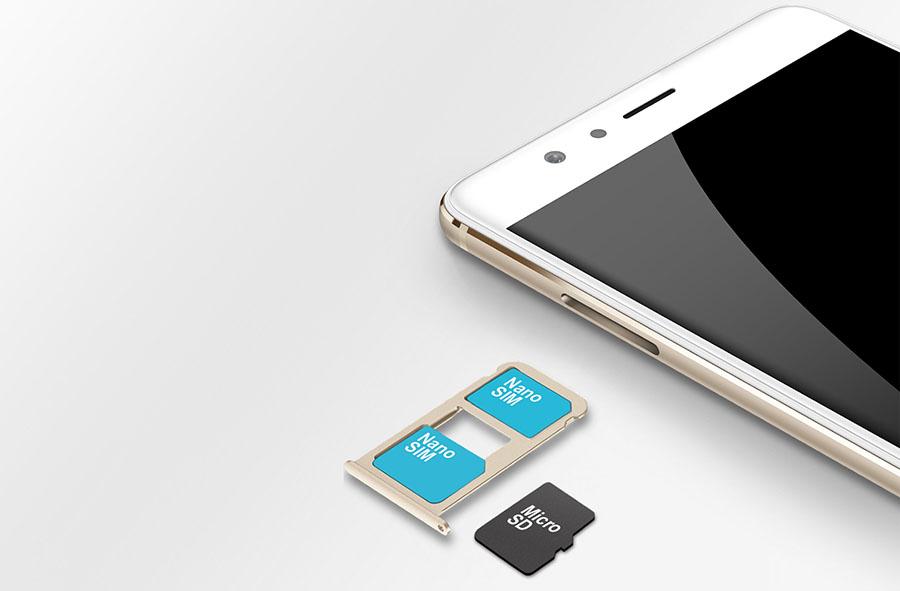 Гибридный слот для SIM-карт в Honor V8