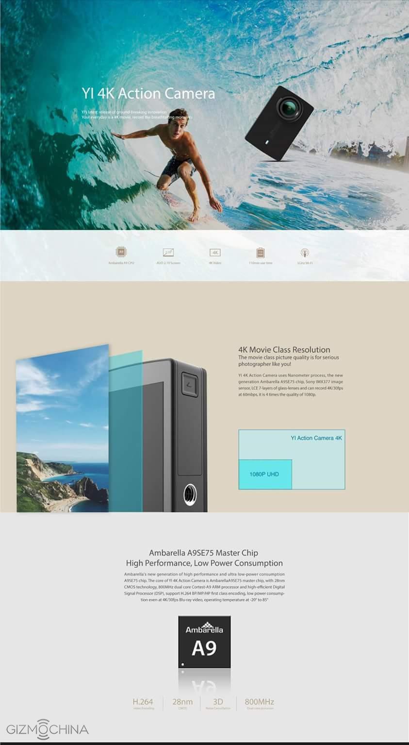 Информация об обновлении Xiaomi YI Action Camera 2