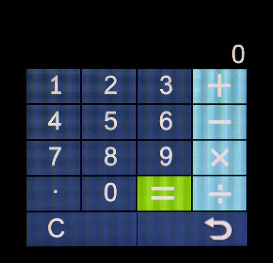 Калькулятор в умных часах V1