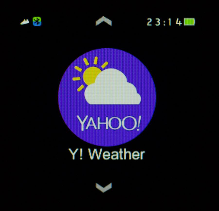 Стороннее приложение Yahoo погода