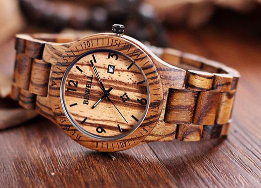 Bewell 2538 - часы из кленового дерева