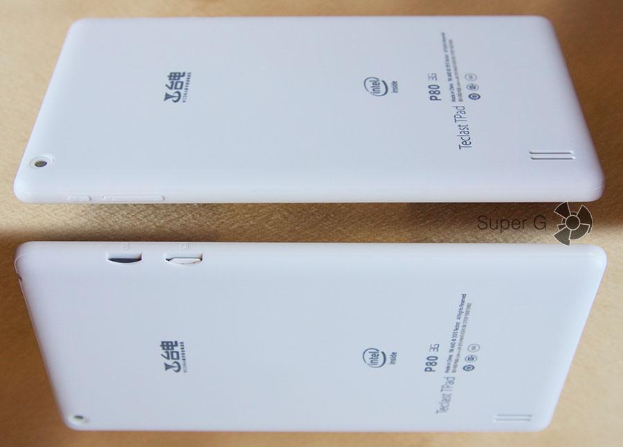 Боковые торцы планшета Teclast TPad P80 3G