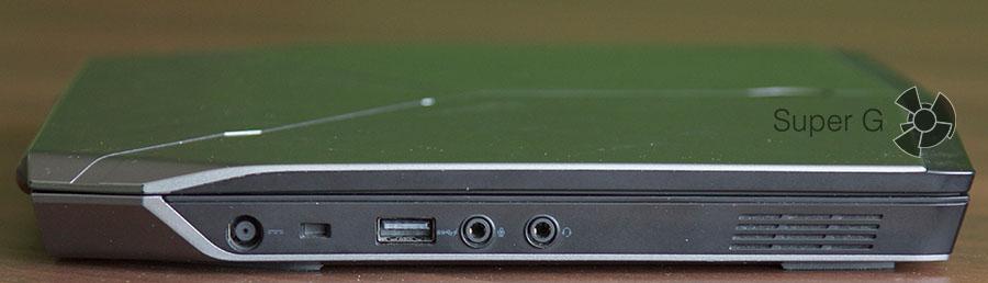 Левая сторона ноутбука Dell Alienware 13